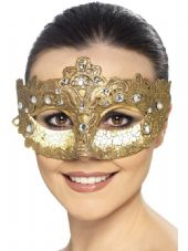 Luxury Lace Colombina Crackle Effect Eye Mask